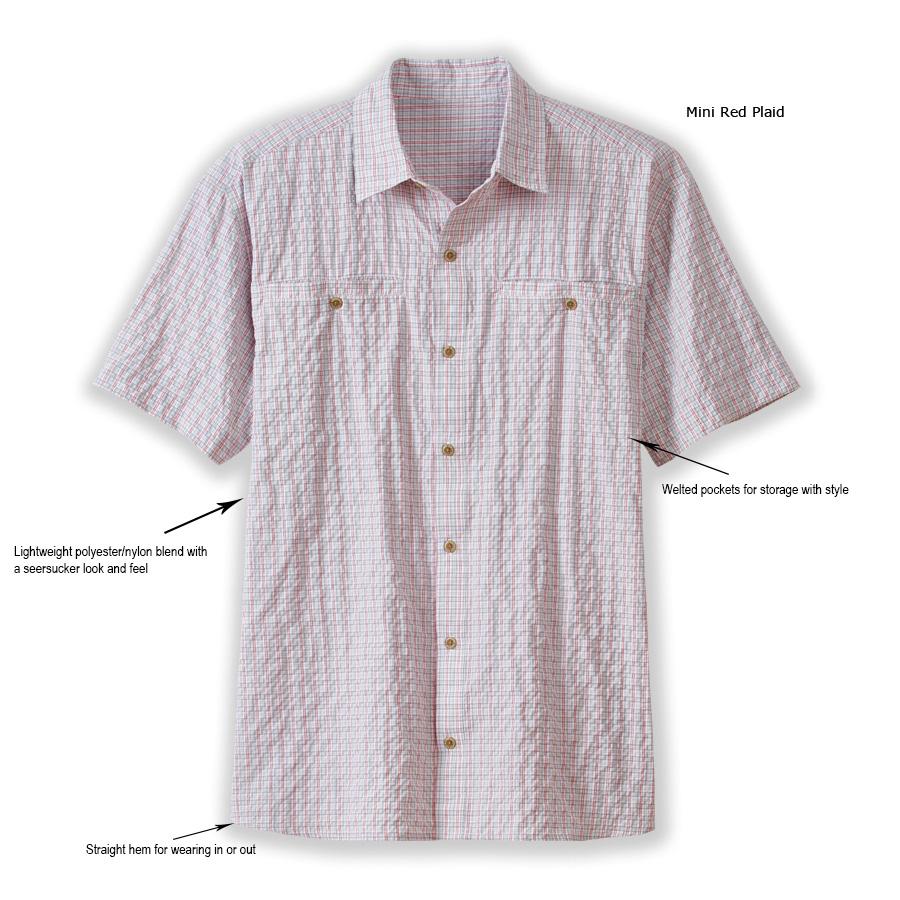549d68203 Men's Short Sleeve Wayfarer Plaid Shirt   RailRiders